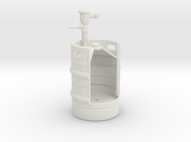 1/10 KEG Urinal in White Natural Versatile Plastic