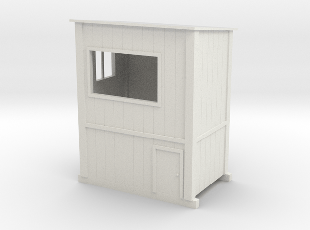 1/64 Chop Stand Shack in White Natural Versatile Plastic