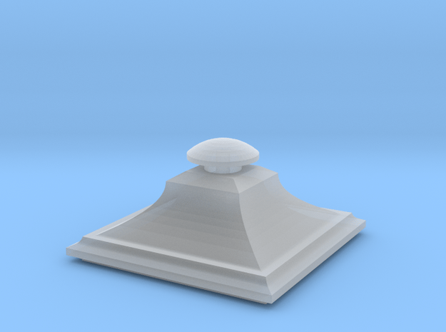 Wrought iron Street Lamp Cap in Smooth Fine Detail Plastic