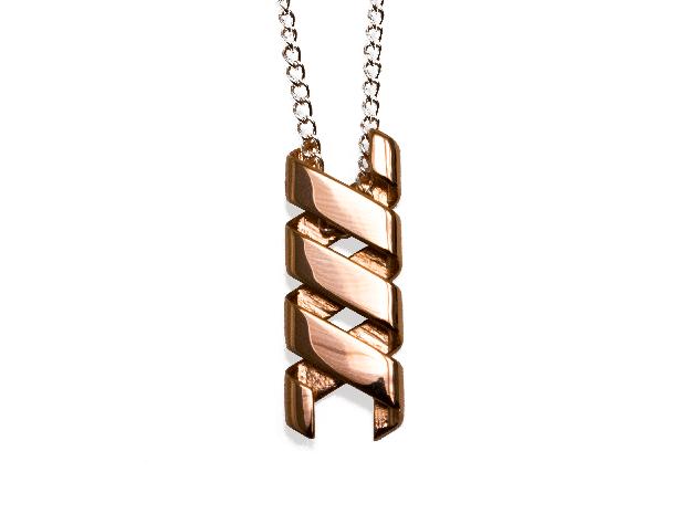 Helix Pendant & Bracelet in Polished Bronze