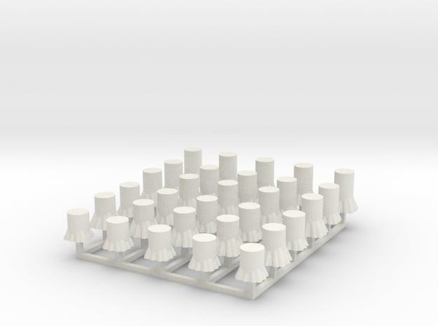 Baumstümpfe 30er Set - 1:120 TT in White Natural Versatile Plastic