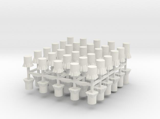 Baumstümpfe 60er Set - 1:120 TT in White Natural Versatile Plastic