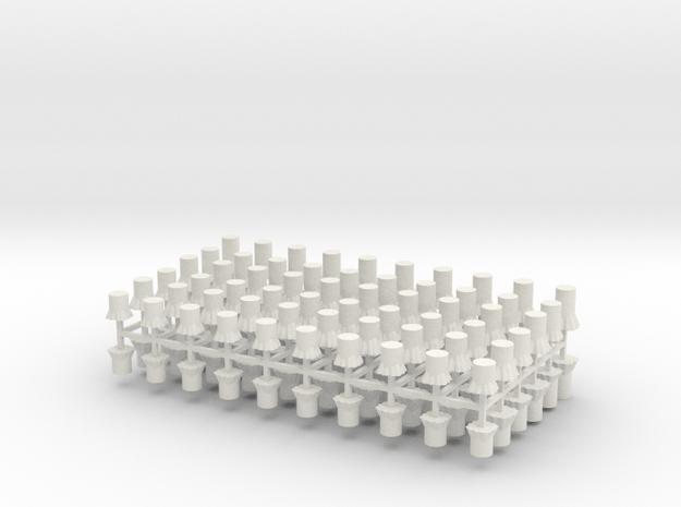 Baumstümpfe 120er Set - 1:120 TT in White Natural Versatile Plastic