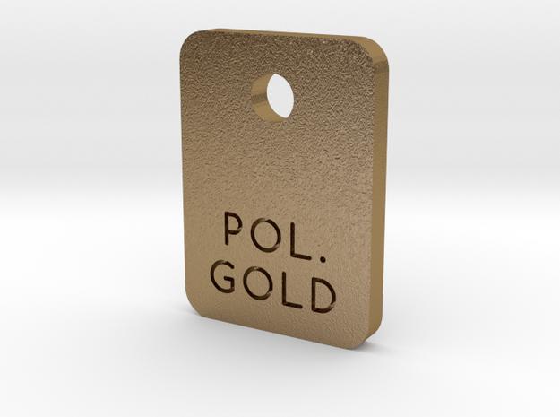 Polished Gold Steel Finish Sample Chip in Polished Gold Steel