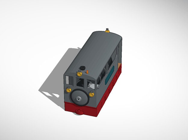 Freelance H0e tramway model loco in Smoothest Fine Detail Plastic