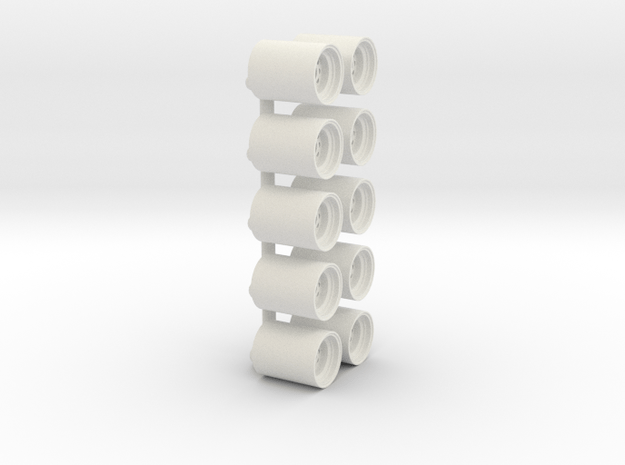 "1/64 22.5"" Wide Wheel in White Natural Versatile Plastic"