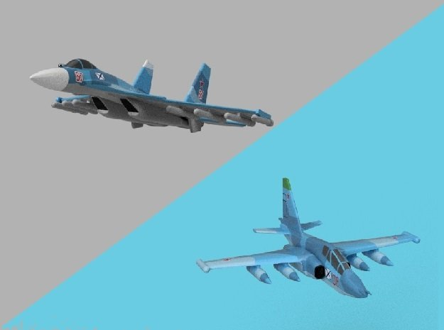 1/1800 Russian Navy aircraft set No.1 in Smooth Fine Detail Plastic