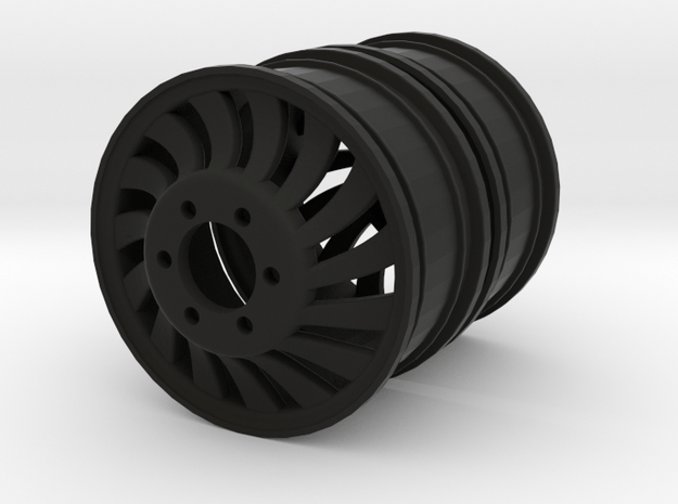 FRONT Dully Rim 1.9 Twist L&R in Black Natural Versatile Plastic