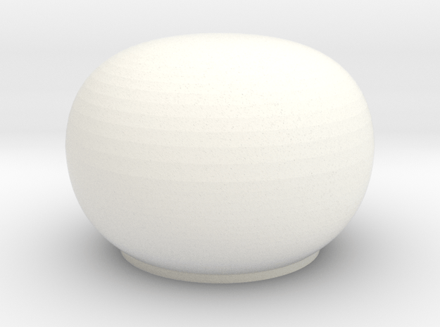 Satcom Dome 1/100 in White Processed Versatile Plastic