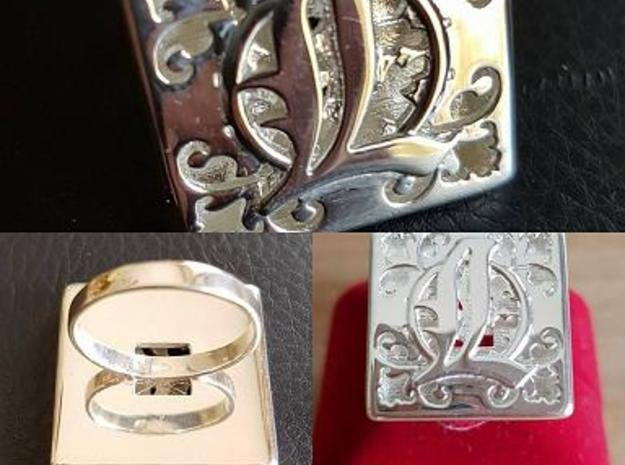 Anello Girali Lucia  in Polished Silver: 7.5 / 55.5