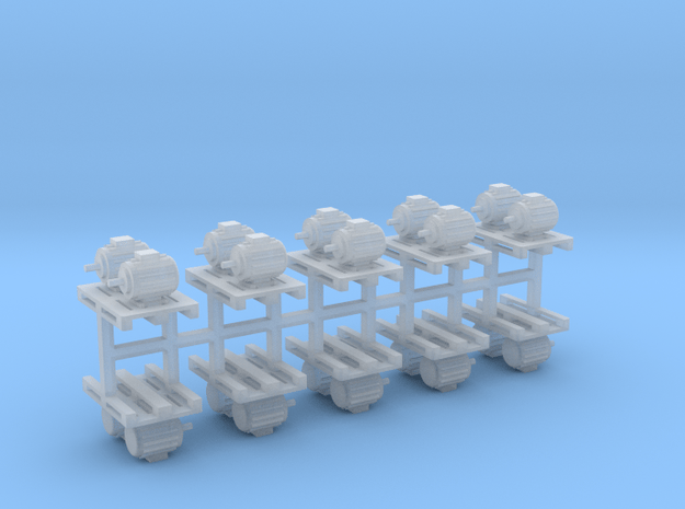 Elektromotoren auf Europalette 10er Set 2 - 1:87 H in Smooth Fine Detail Plastic