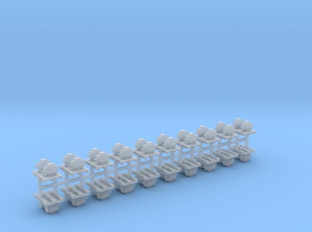 Elektromotoren auf Europalette 20er Set 2 - 1:87 H in Smooth Fine Detail Plastic