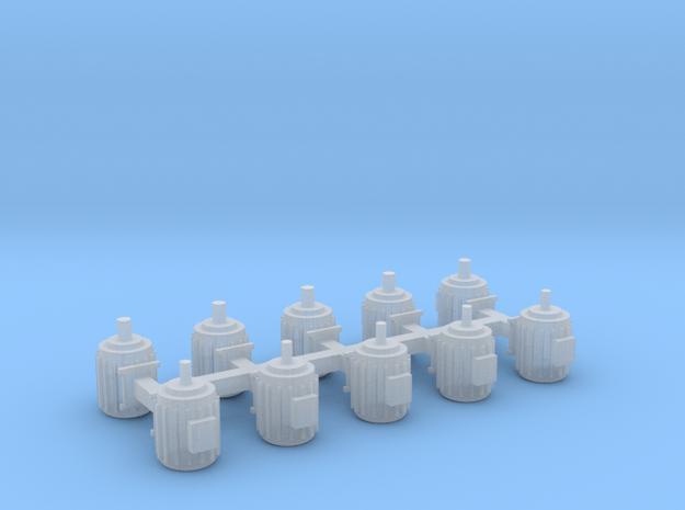 Elektromotoren Größe D 10er Set - 1:87 H0 in Smooth Fine Detail Plastic