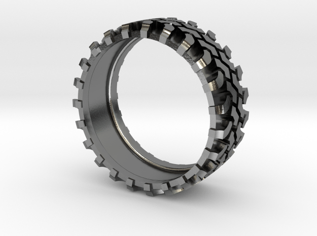 4x4 All road ring in Polished Silver: 11.5 / 65.25