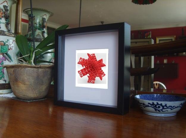 Enneper Curve Artwork (001) in Red Processed Versatile Plastic
