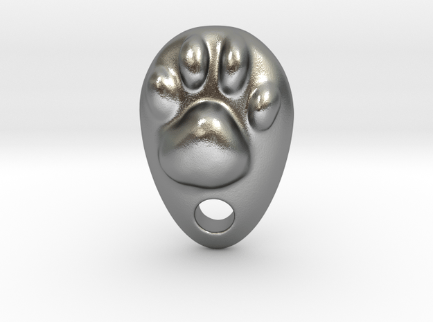 Cat Hand A1 in Natural Silver: Small
