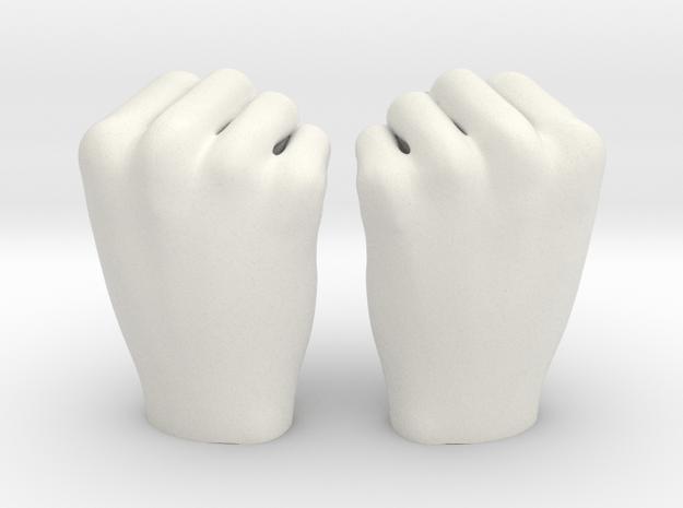 Fists 1:4 scale in White Natural Versatile Plastic
