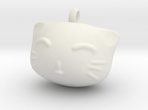 Cat4 in White Natural Versatile Plastic: Small