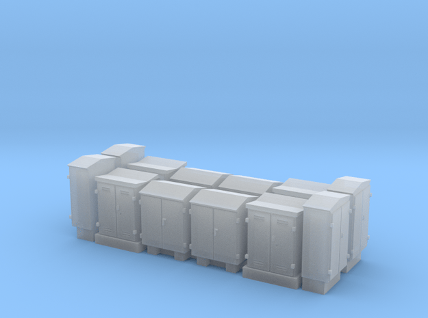NS schakelkasten N scale 12 stuks in Smoothest Fine Detail Plastic