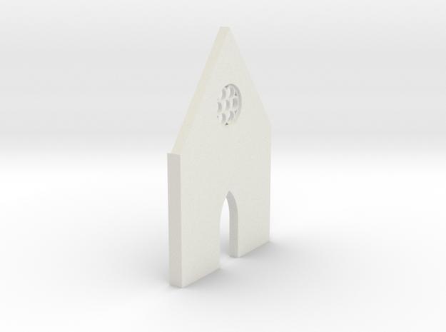 shkr015 - Teil 15 Front hoch kurz Fenster zierlich in White Natural Versatile Plastic