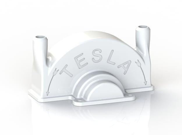 Tesla Turbine Top Casing  in White Natural Versatile Plastic