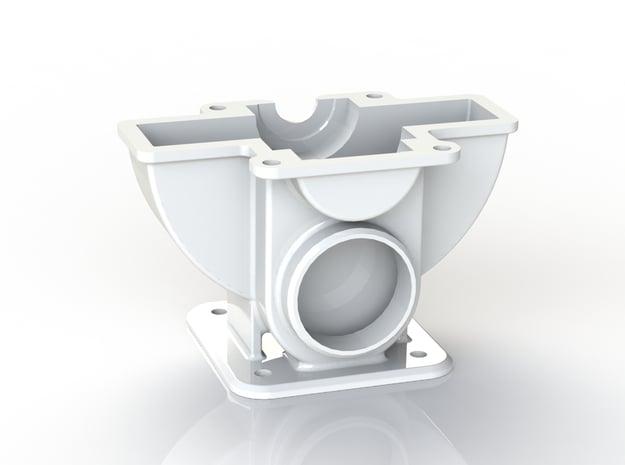 Tesla Turbine Bottom Casing  in White Natural Versatile Plastic