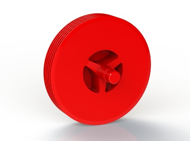 Tesla Turbine 6 Disc Rotor in Red Processed Versatile Plastic