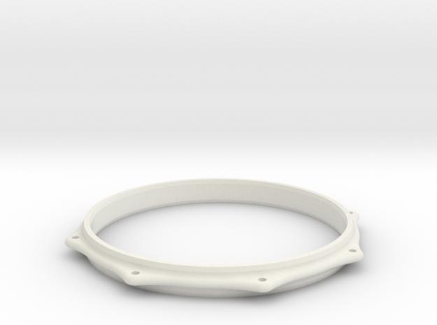 BASS TOM HOOP in White Natural Versatile Plastic