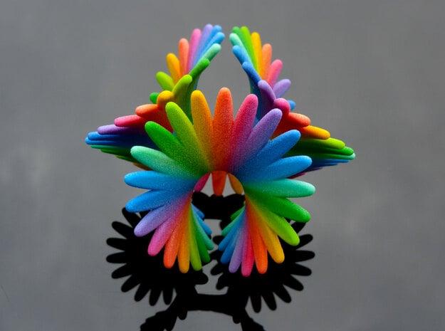 Enneper Rainbow Flower in Full Color Sandstone: Medium