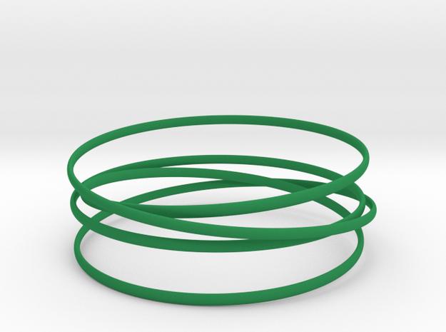 Multispire floating bracelet