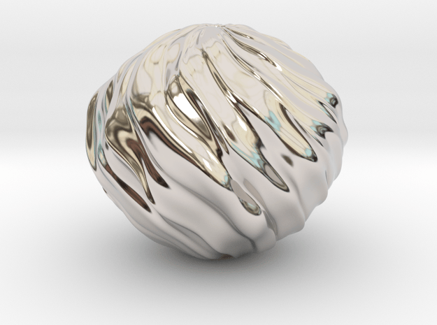 The Only Thing To Fear Is Sphere Itself in Rhodium Plated Brass