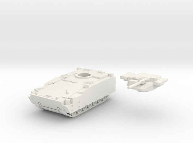 1:56 Kurganets-25 IFV in White Natural Versatile Plastic