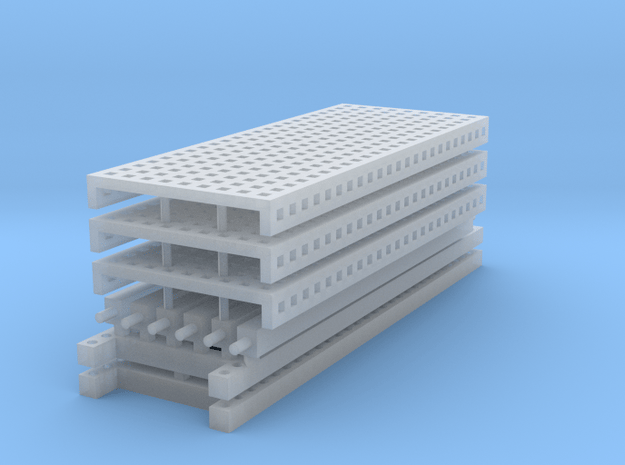 1/64 3 High 10ft Pallet Racking with mesh in Smoothest Fine Detail Plastic