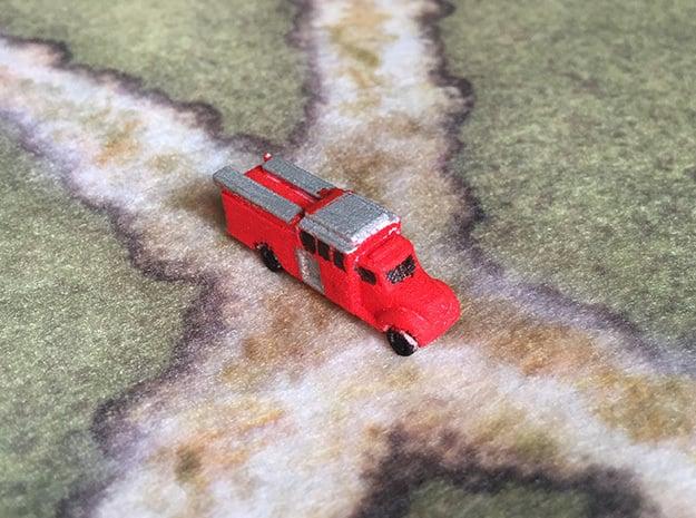1:285 Custom Fire - Full Response Cab Pumper in White Natural Versatile Plastic: 6mm