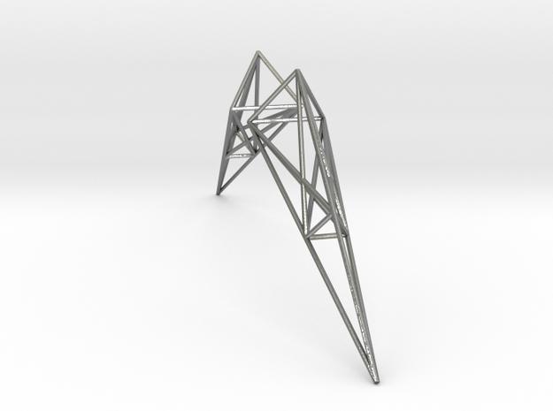 Pylon Earrings in Natural Silver