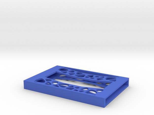 "Card Holder ""Pebbles"" in Blue Processed Versatile Plastic"