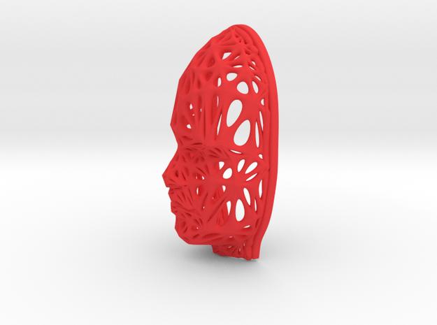 Female Voronoi Face 0.5 Scale in Red Processed Versatile Plastic