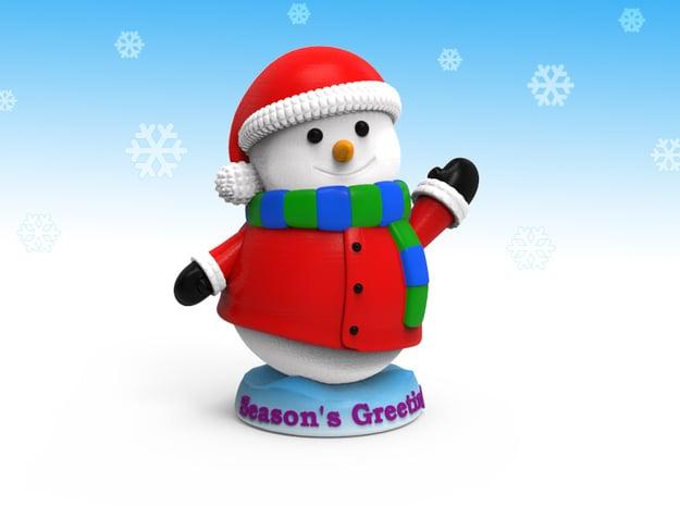 Snowman_Greets in Full Color Sandstone
