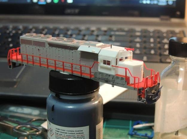 N Scale WC/AC SD40-2 Kit in Smooth Fine Detail Plastic