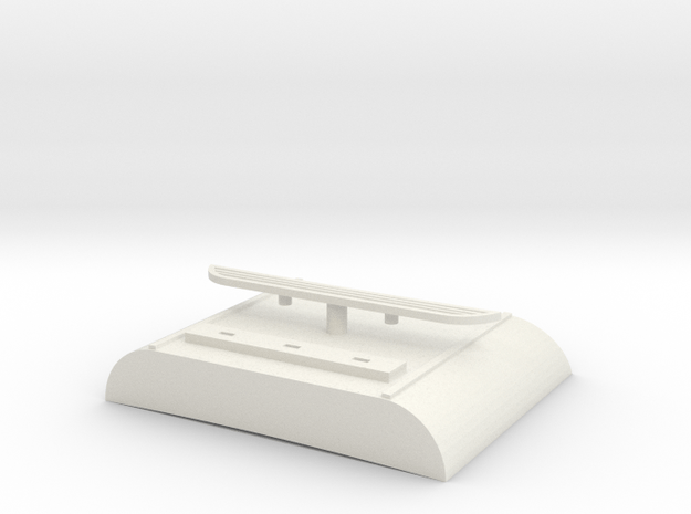 1:20_Scale_Red_ROOF in White Natural Versatile Plastic