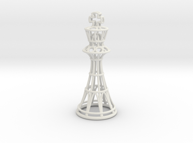 Hollow Chess Set - King in White Natural Versatile Plastic