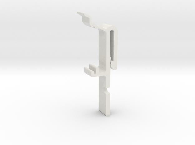 Vertical Valance Clip 1 1/2 B - 3 in White Natural Versatile Plastic