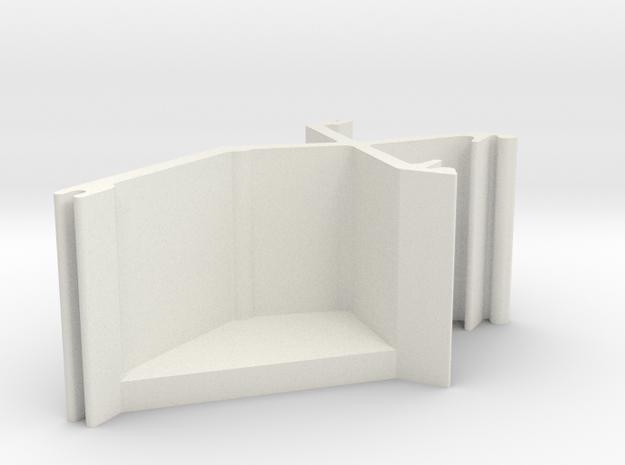 Blind Valance Clip 96a in White Natural Versatile Plastic