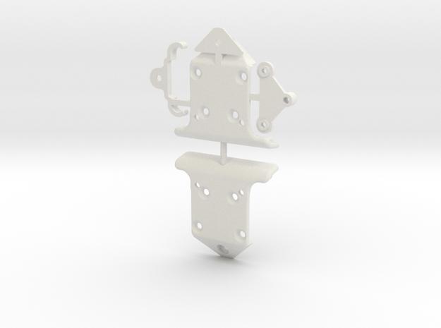 YZ4 Bumper New Version in White Natural Versatile Plastic