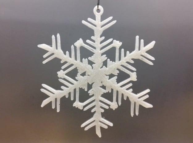 Organic Snowflake Ornament - Russia in White Natural Versatile Plastic