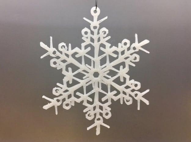Organic Snowflake Ornament - Finland in White Natural Versatile Plastic