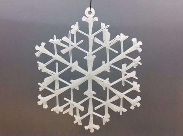 Organic Snowflake Ornament - Canada in White Natural Versatile Plastic