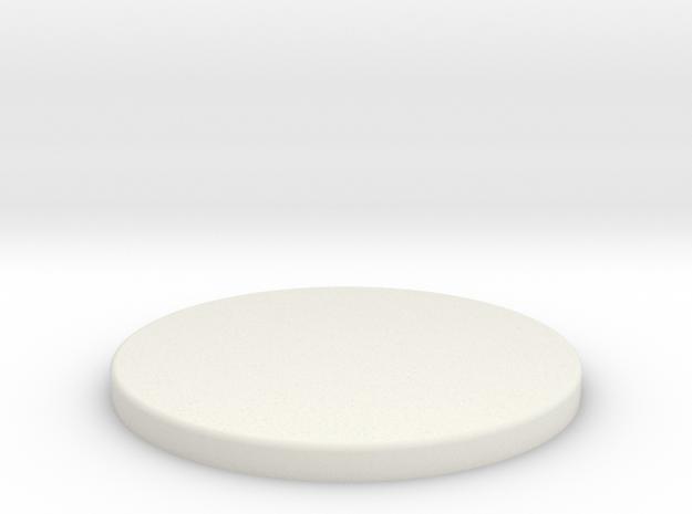 Floor Tom Head in White Natural Versatile Plastic
