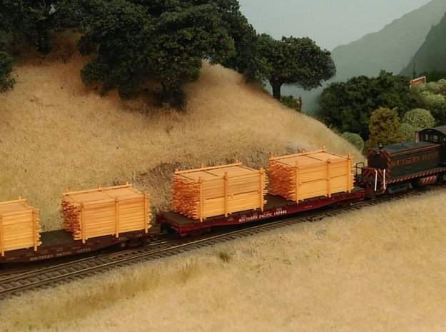 28 Lumber Loads!! N Scale: Outfits 14 Flats & Gons in Smooth Fine Detail Plastic