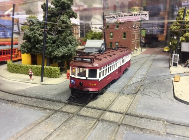 HO Pacific Electric Hollywood or Valley Seven in Smooth Fine Detail Plastic